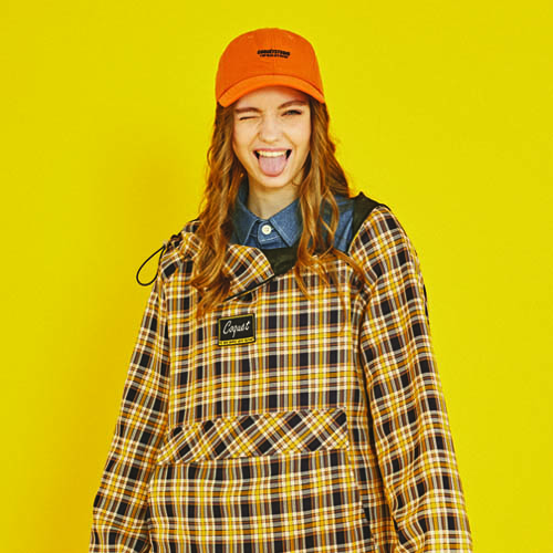 DIAGONAL FAKE ZIPPER CHECK ANORAK