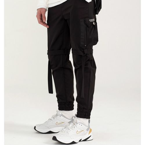 [PREMIUM] MA-1 POCKET DETAIL JOGGER PANTS BLACK