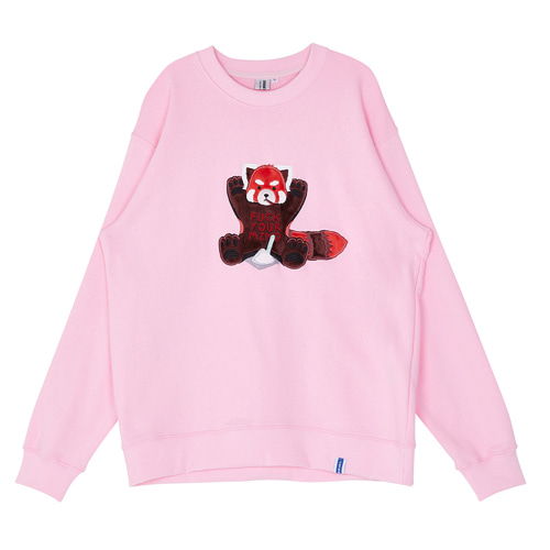 ADDICTED PATCH WORK LESSER SWEATSHIRT [PINK]