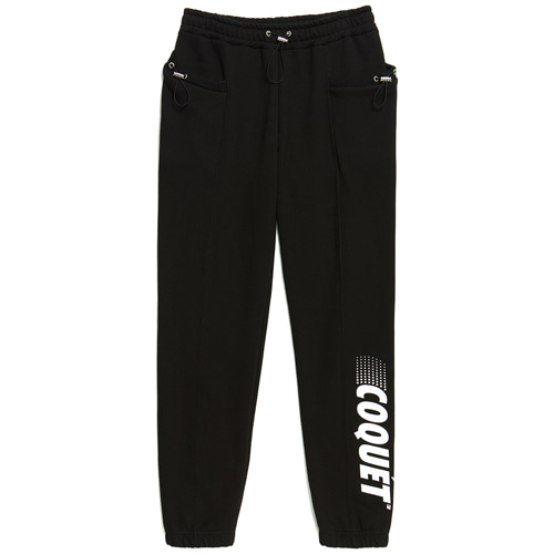 [665g] STRING SWEAT JOGGER PANTS BLACK