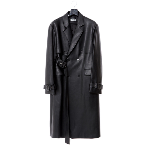 [ 19FW CT01-1 ] FAKE LEATHER TRENCH COAT